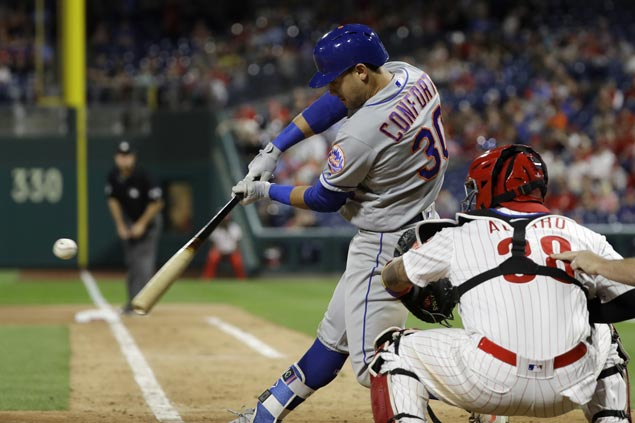 Michael Conforto hits ninth-inning home run to lift Mets over Phillies