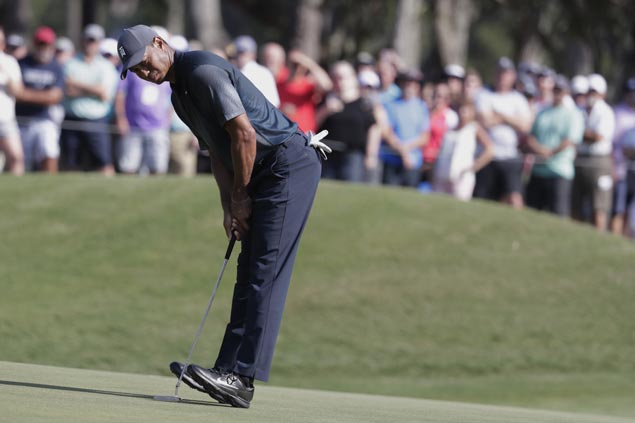 Tiger still in after two rounds but face tough third with secondary cut set at Sawgrass