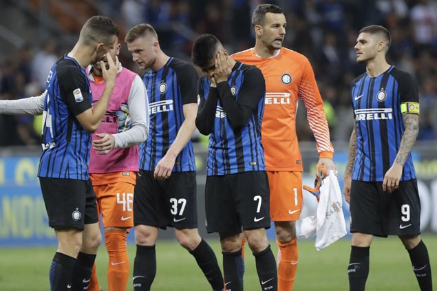 Midtable Sassuolo scores big win and leaves Inter's Champions League chances in tatters