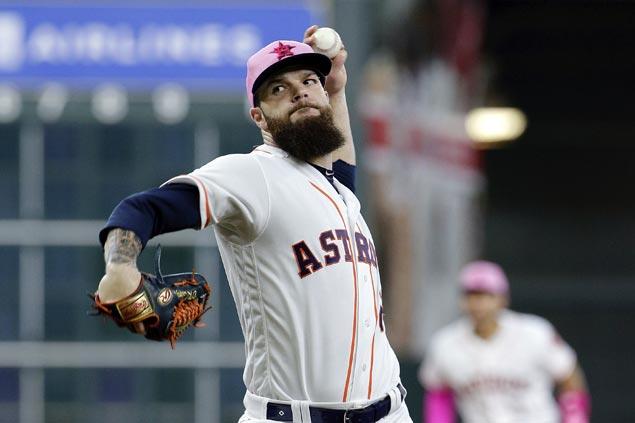 Dallas Keuchel tosses seven shutout innings to lead Astros over Rangers