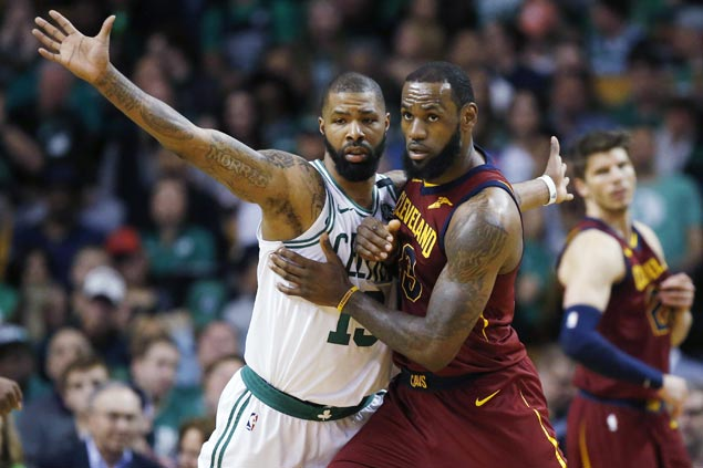 Marcus Morris makes good on promise to hold down LeBron James