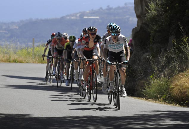 Team Sky powers Egan Bernal to stage victory and overall lead in Tour of California