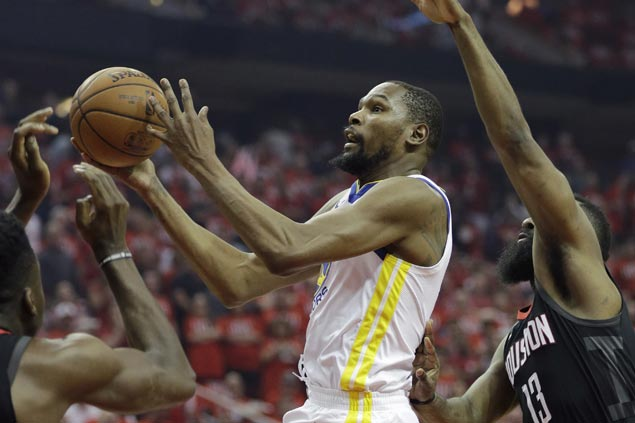 Strong second half allows Warriors to take huge road win over Rockets in opener of West finals