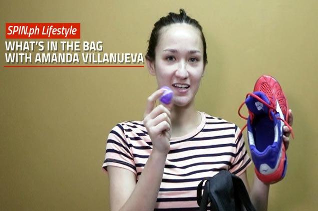 Sneaker deodorizer balls and other sports bag essentials for Amanda Villanueva