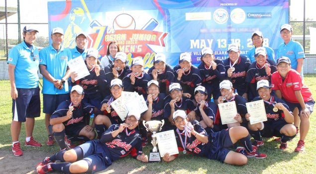 Japan rips Chinese Taipei to complete sweep of Asian Under 19 women's softball