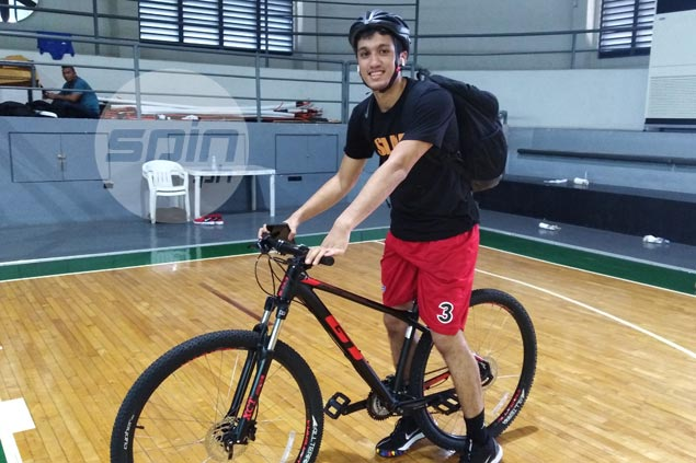 Von Pessumal gets in extra cardio workout before and after San Miguel practice