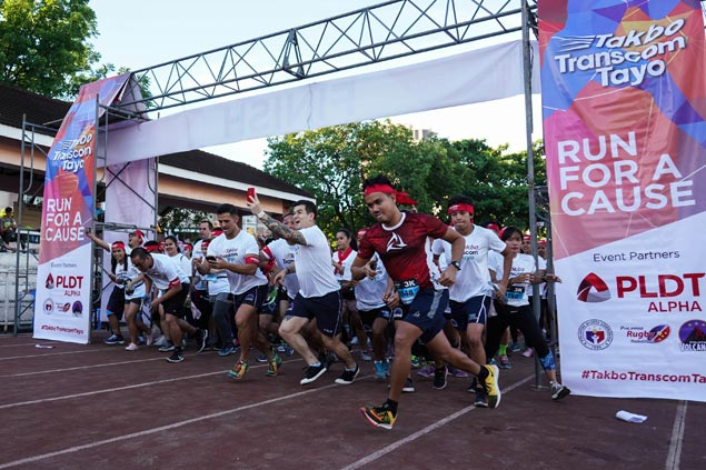 Over 1,000 runners take part in Takbo Transcom Tayo charity race