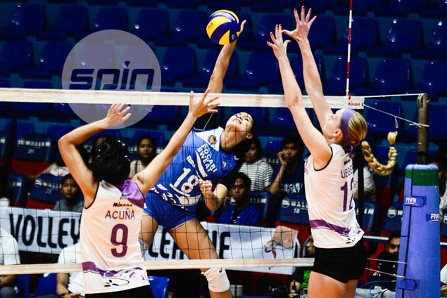 Pocari Sweat gets PVL campaign back on track with four-set win over Iriga-Navy