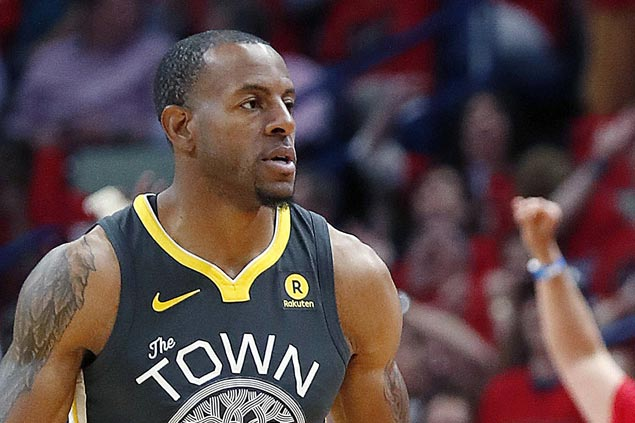 Andre Iguodala knee improving but Dubs swingman still questionable for Game Five