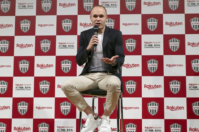 It's official: Spain star Andres Iniesta signs with Japanese club Vissel Kobe