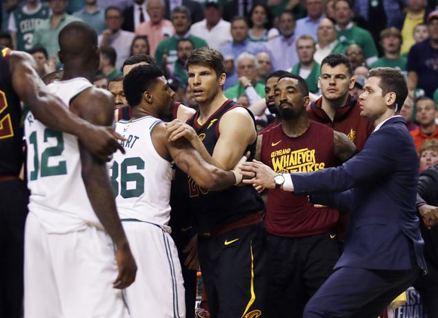 Action heats up early and Larry Nance, Marcus Morris scuffle in Cavs-Celtics Game Five
