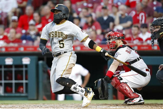Josh Harrison 12th-inning triple powers Pirates past Reds