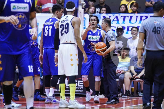 A fight in an All-Stars? Geez. Santos, Romeo, at least, quick to patch things up