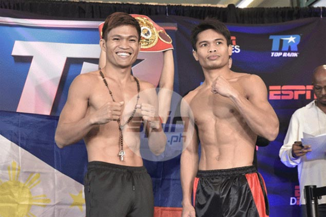 Jerwin Ancajas, Jonas Sultan easily make weight for IBF super flyweight title bout