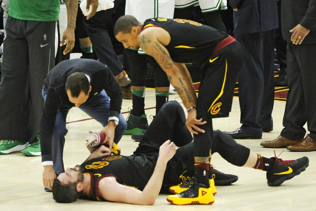 Kevin Love placed in concussion protocol, out for East title series finale