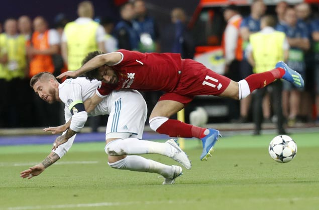 Fans slam Sergio Ramos as Mohamed Salah's World Cup in doubt due to injury