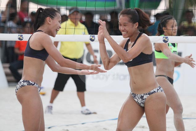 Rondina, Pons repeat as PSL beach volleyball champs with rout of Estoquia, Delmontano