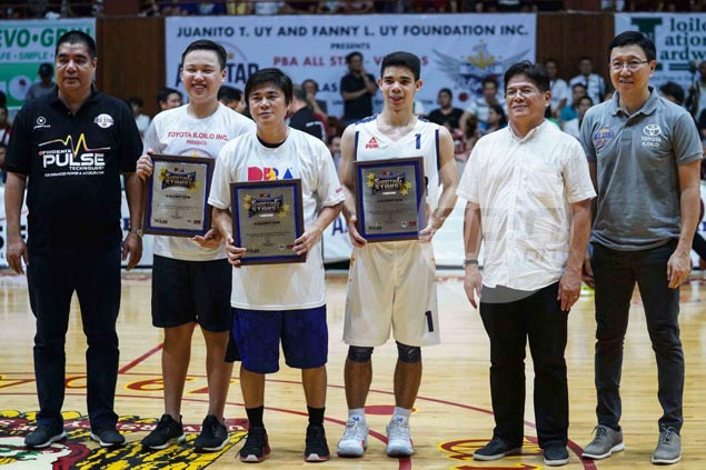 Home party for surprise All-Star Emman Monfort as team wins Shooting Stars title