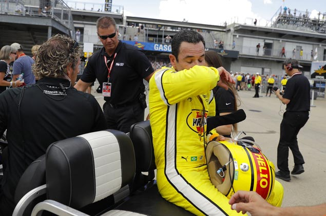 Near-record heat takes toll on drivers and fans at Indianapolis 500