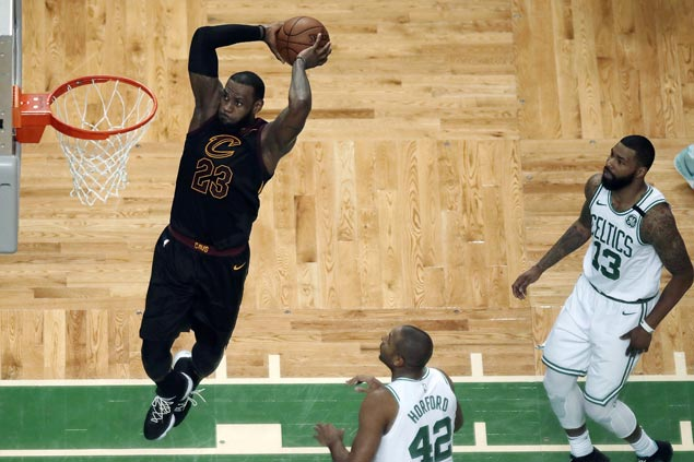 LeBron wills Cavs past Celtics in Game 7, books eighth straight trip to NBA Finals