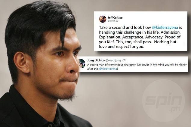 Amid deluge of support for Kiefer, Cariaso and Uichico messages are most heartfelt