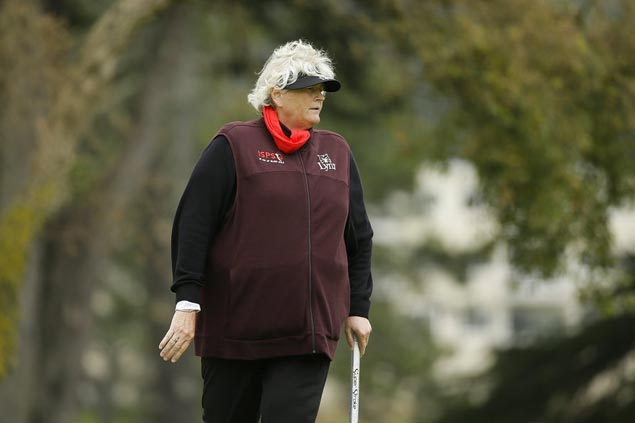 Laura Davies playing against men in Denmark stop ofStaysure Tour
