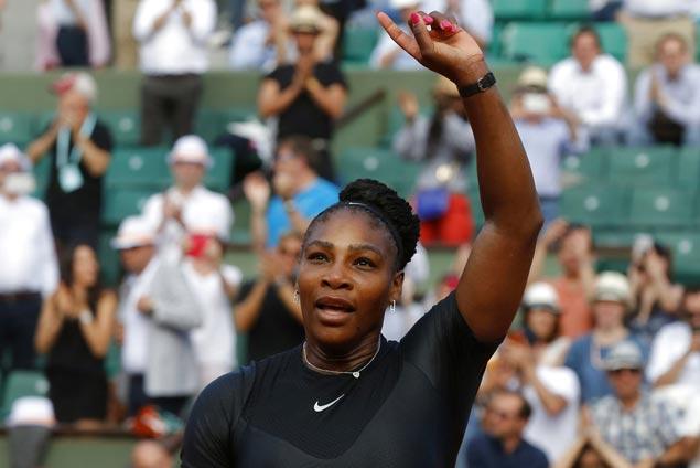 Serena Williams wins grand slam return, downs Kristyna Pliskova at Roland Garros