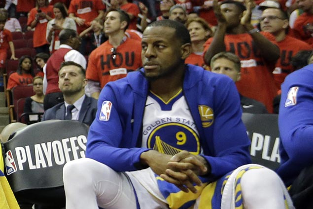 Warriors forward Andre Iguodala out; Kevin Love status remains unclear for Game One