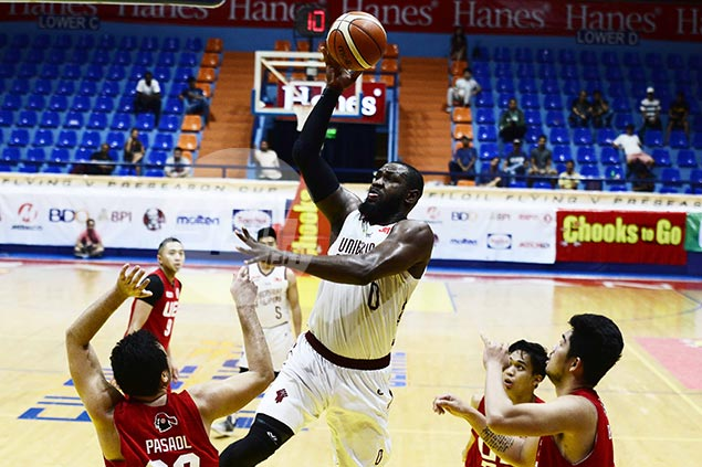 Bright Akhuetie double-double powers UP Maroons past UE Warriors for fifth straight win