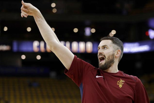 Kevin Love spared suspension for leaving bench during late-game Cavs-Warriors altercation