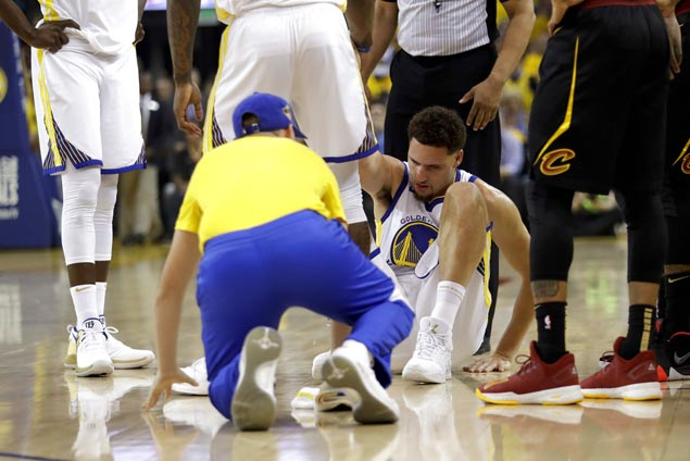 Klay Thompson has sore ankle but expects to play in Warriors-Cavs Game Two