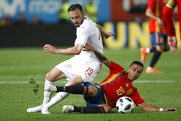 Switzerland holds Spain to a draw in final tuneup match for World Cup