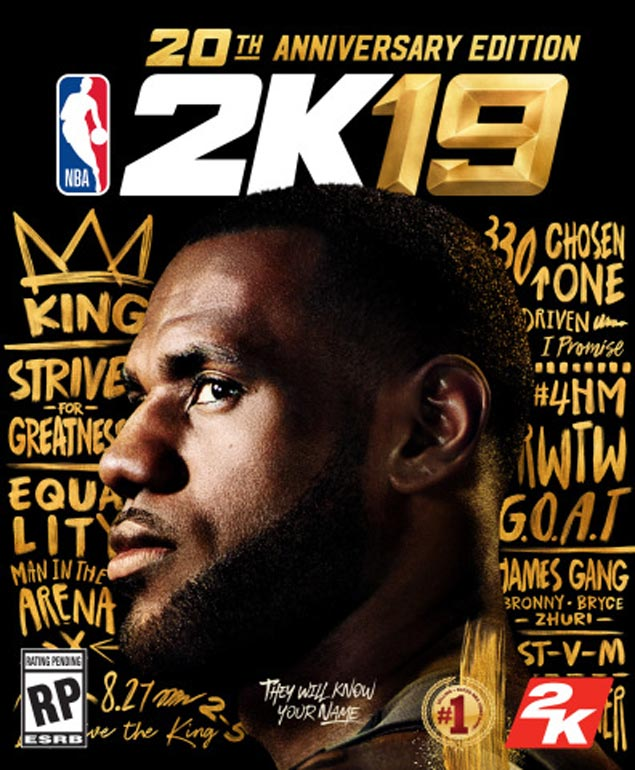 Anniversary celebration fit for a king as LeBron James graces cover of NBA 2K19