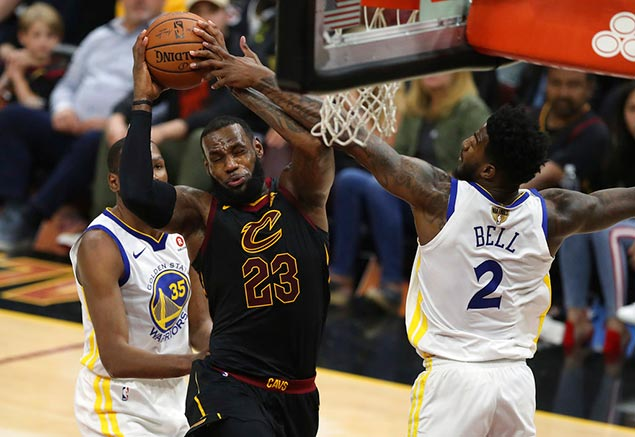 LeBron's triple-double not enough as Durant, Warriors move on verge of sweeping Cavs