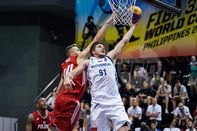 Slovenia's world-rated Anze Srebovt feeding off Pinoy crowd's energy in Fiba 3x3 World Cup