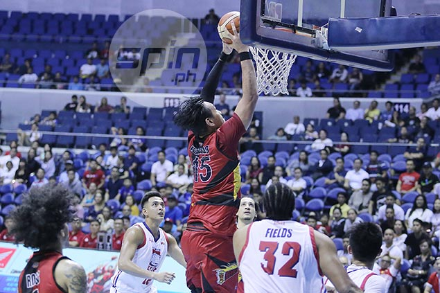 You know it's SMB's night when June Mar Fajardo throws down not just one, but two rare dunks