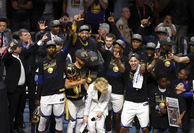 Warriors make it back-to-back, claim third title in four years