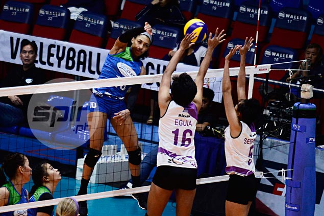 Janisa Johnson comes out firing as BaliPure-NU wins five-setter over Iriga-Navy