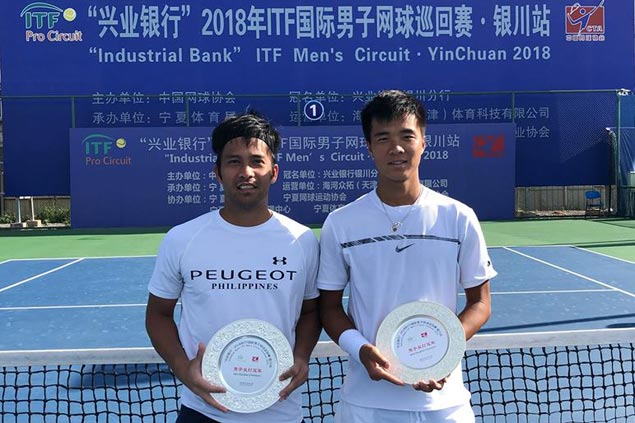 Francis Casey Alcantara, China's Fajing Sun win doubles title in Yinchuan ITF event