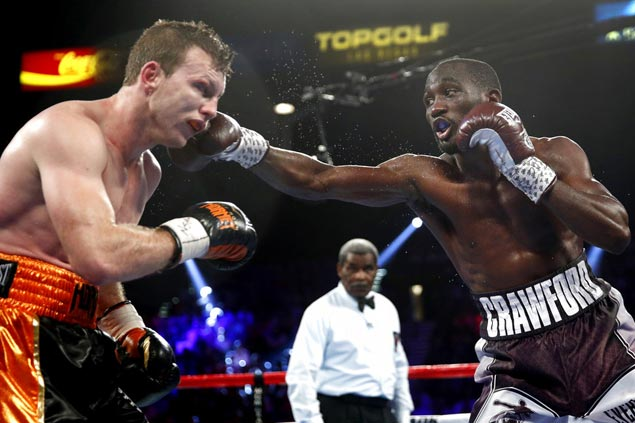 Terrence Crawford stops Jeff Horn in ninth round to clinch WBO welterweight title