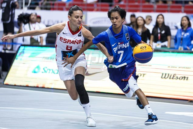 Pontejos' fiery shooting can't save PH women's 3x3 team from going down in defeat to Spain
