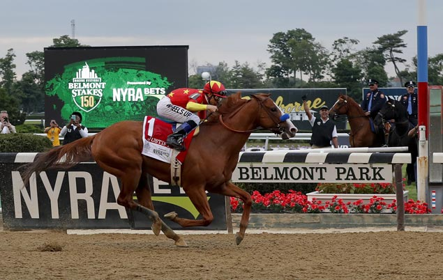 Justify tops Belmont Stakes to become 13th Triple Crown winner