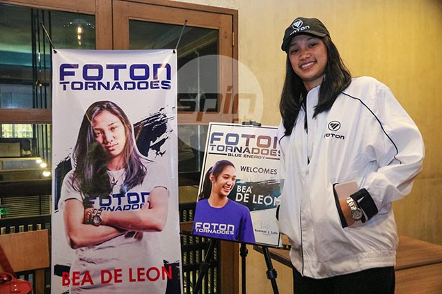 Bea de Leon signs two-year deal with Foton but still undecided on final year at Ateneo