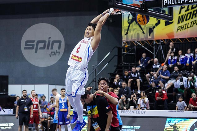 Pinoy pro dunker David Carlos leaps into history in Fiba 3x3 World Cup dunk contest