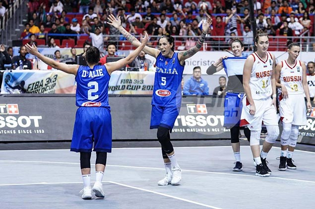 Diminutive D'Alie on top of the world as Italy clips Russia for Fiba 3x3 women's title