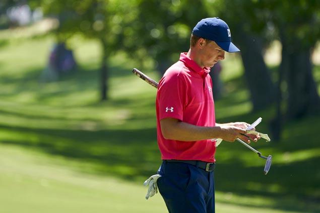 Although exasperated, Jordan Spieth believes he is close to ending mini-slump