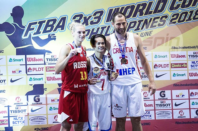 Girl power as Janine Pontejos outduels male counterparts in 3x3 World Cup shootout
