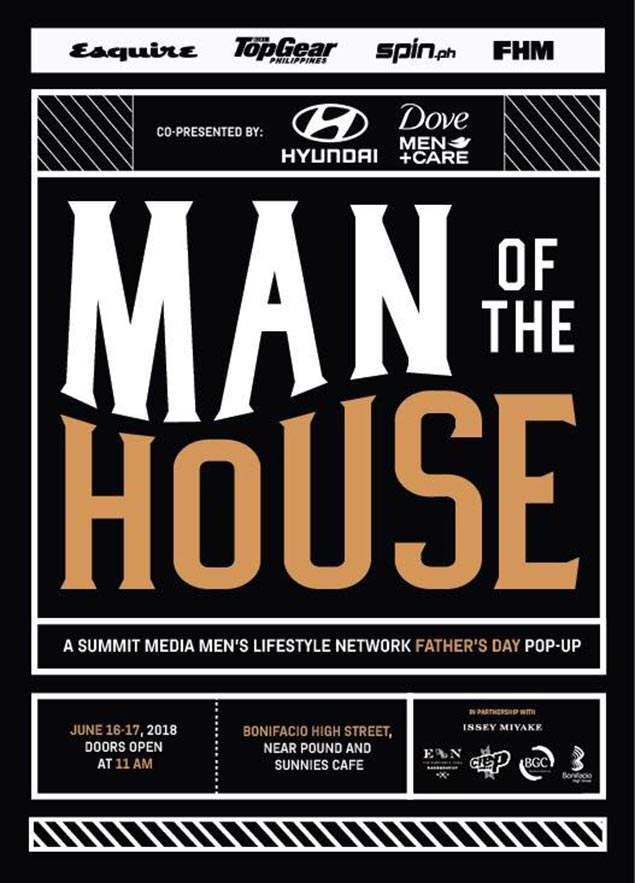 Esquire, Top Gear, Spin.ph, FHM team up for Man of the House event on Father's Day