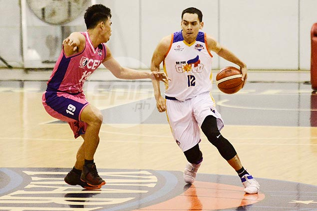 Vince Tolentino steps up as Go for Gold clips CEU for D-League hat-trick