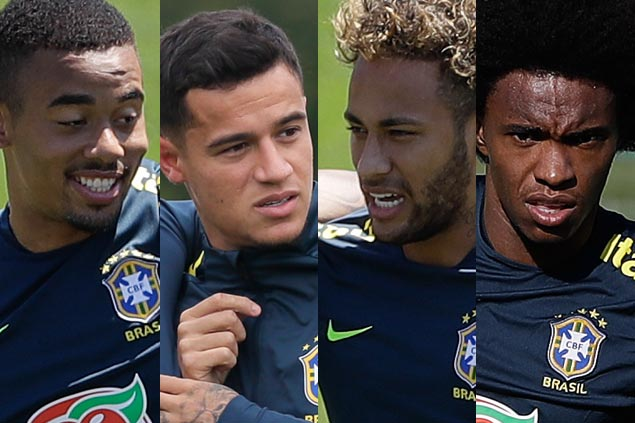 Brazil counting on new 'Fab Four' in World Cup bid